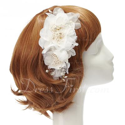 Beautiful Artificial Silk/Chiffon Flowers & Feathers (042028748)