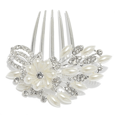 Gorgeous Alloy/Pearl Combs & Barrettes (042016692)