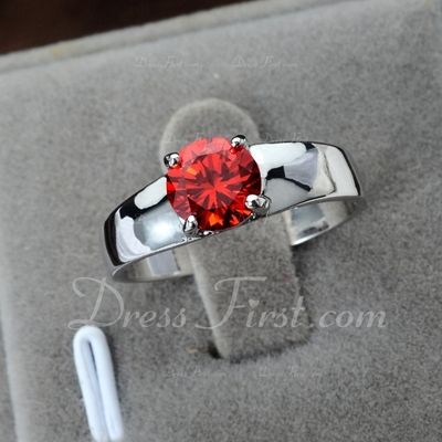 Beautiful Zircon/Platinum Plated Ladies' Rings (011055236)