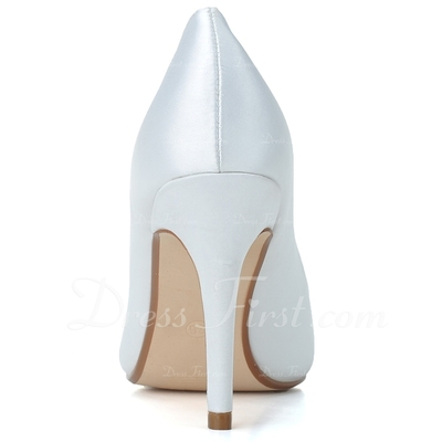 Kadın Satin İnce Topuk Kapalı Toe Pompalar (047057093)