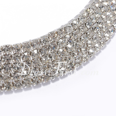 Alloy With Rhinestone Necklaces (011027670)