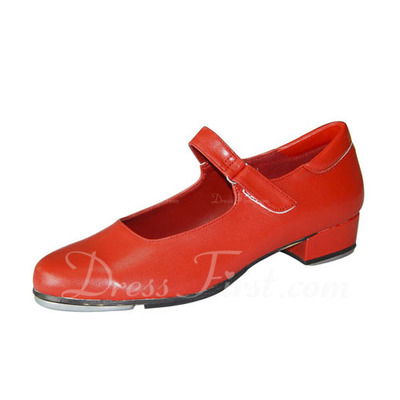 Women's Real Leather Flats Tap With Buckle Dance Shoes (053022444)