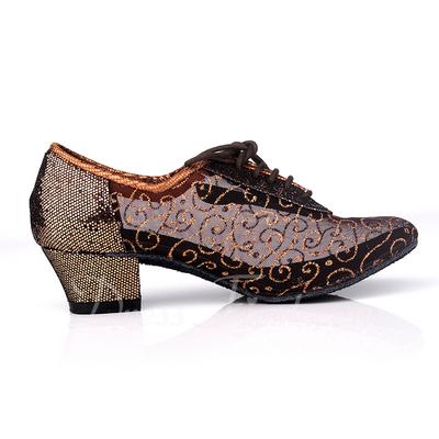 Women's Leatherette Heels Ballroom Practice Dance Shoes (053057185)