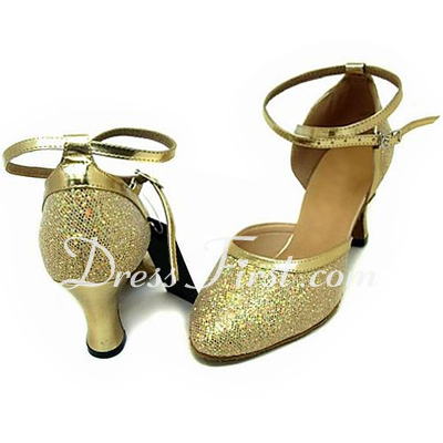 Women's Leatherette Sparkling Glitter Heels Pumps Ballroom Dance Shoes (053013450)