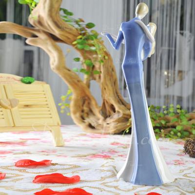 Figurine Dancing Couple Ceramic Wedding Cake Topper (119055255)