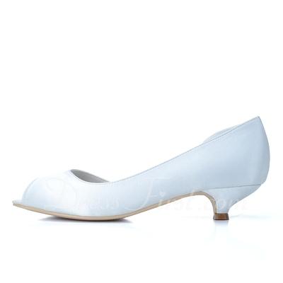 Kadın Satin Sivri Topuk Peep Toe Pompalar (047057081)