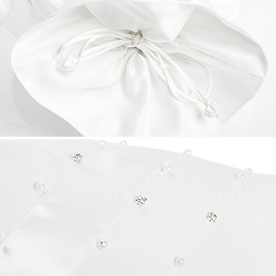 Elegant Satin With Bowknot/Imitation Pearl Bridal Purse (012003819)