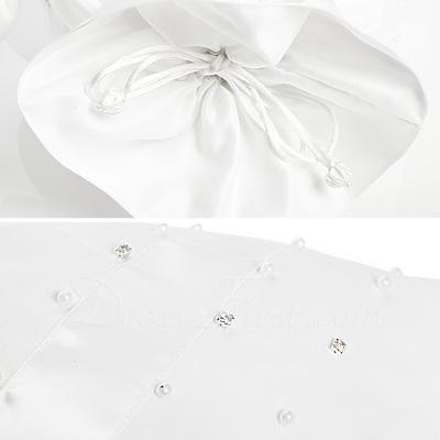 Elegant Satin mit Des Bowknot/Nachahmungen von Perlen Braut Geld-Beutel (012003819)