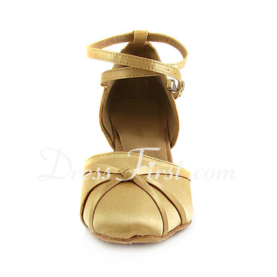 Kadın Satin Topuk Pompalar Modern Ile Ayakkabı Askısı Dans Ayakkabıları (053013525)