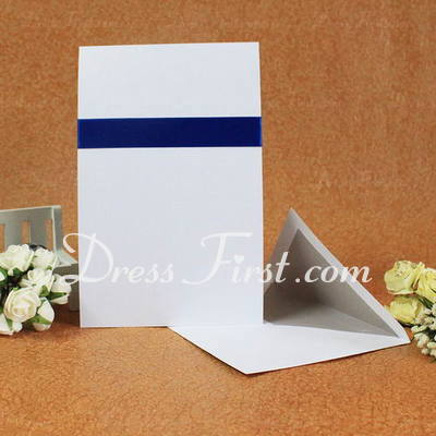 Classic Style Flat Card Invitation Cards With Ribbons (Set of 50) (114030722)