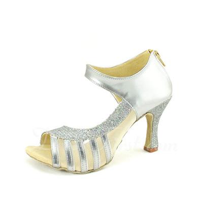 Kadın Suni deri Topuk Sandalet Latin Dans Ayakkabıları (053057169)