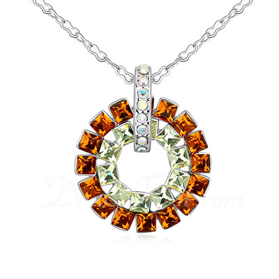 Beautiful Crystal/Platinum Plated Women's/Ladies' Necklaces (011055360)