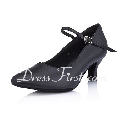 Women's Real Leather Heels Pumps Ballroom Dance Shoes (053013009)