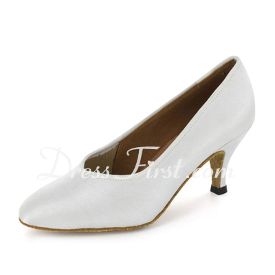 Women's Satin Heels Pumps Modern Ballroom Dance Shoes (053021380)