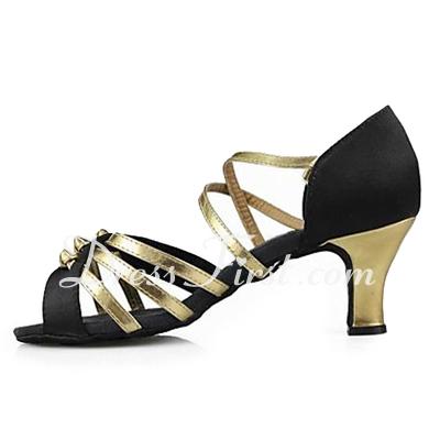 Kadın Satin Suni deri Topuk Sandalet Latin Ile Ayakkabı Askısı Dans Ayakkabıları (053013192)