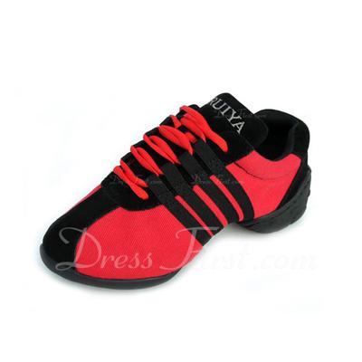 Kadın Tuval Spor Ayakkabılar Pratik Ile Bağcıklı Dans Ayakkabıları (053056416)