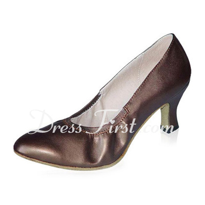 Women's Real Leather Heels Pumps Modern Ballroom Dance Shoes (053021375)