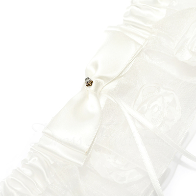 Elegant Satin Wedding Garters (104024504)