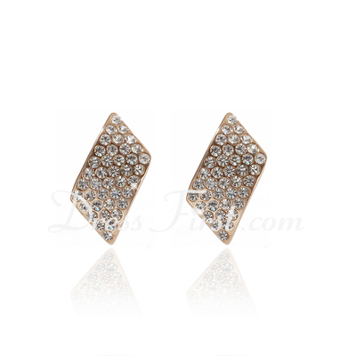 Fashional Alloy/Rhinestones Women's Earrings (011027308)