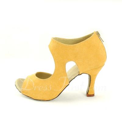 Women's Nubuck Heels Sandals Latin Dance Shoes (053057172)