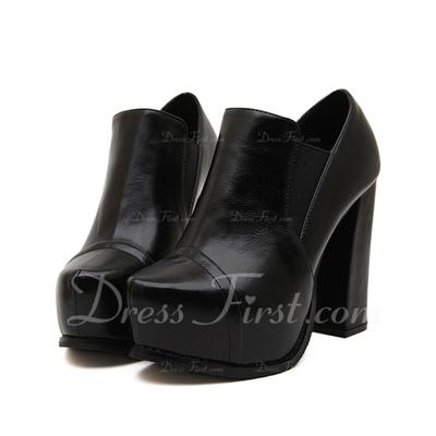 Suni deri Kalın Topuk Ayak bileği Boots ayakkabı (088056671)