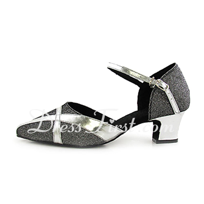 Women's Leatherette Heels Pumps Modern With Buckle Dance Shoes (053013173)
