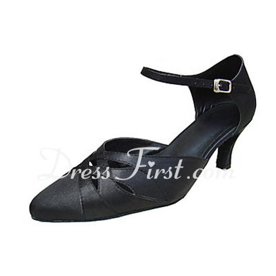 Women's Satin Heels Pumps Ballroom Dance Shoes (053013390)