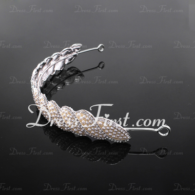 Stylish Alloy/Imitation Pearls Tiaras (042017916)