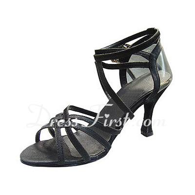 Kadın Satin Topuk Sandalet Latin Ile Ayakkabı Askısı Dans Ayakkabıları (053013032)