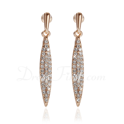 Shining Alloy With Rhinestone Ladies' Earrings (011027167)