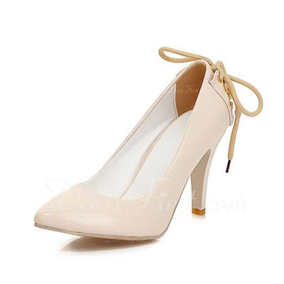 Leatherette Stiletto Heel Pumps Closed Toe shoes (085054491)