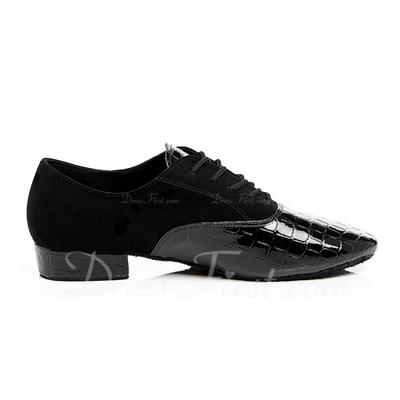 Men's Leatherette Latin Ballroom Practice Character Shoes With Lace-up Dance Shoes (053054498)