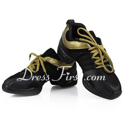 Women's Leatherette Flats Sneakers Practice Dance Shoes (053012961)