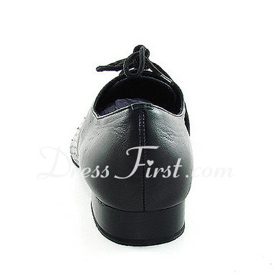 Men's Real Leather Flats Modern With Lace-up Dance Shoes (053013036)