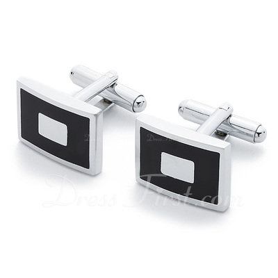 Classic Rectangular Zinc Alloy Cufflink (Set of 2) (051033659)