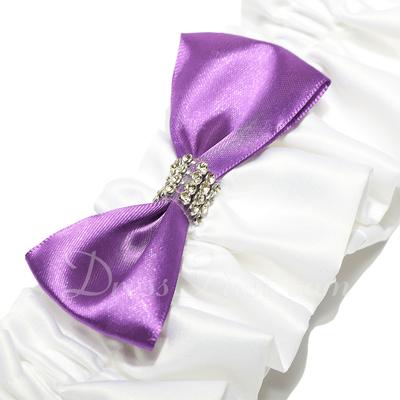 Attractive Satin With Rhinestone Wedding Garters (104019510)