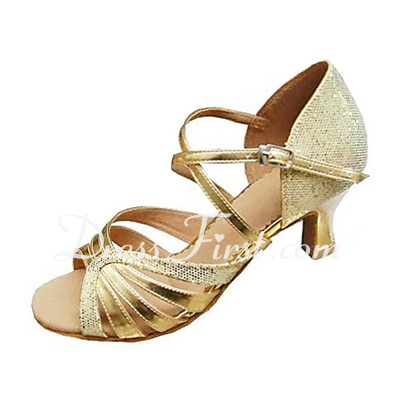 Women's Leatherette Sparkling Glitter Heels Sandals Latin Dance Shoes (053013347)