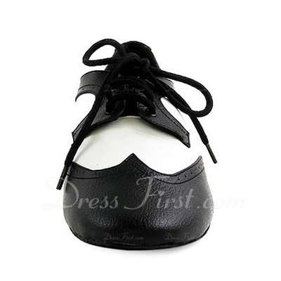 Kids' Real Leather Flats Latin Ballroom Practice Character Shoes Dance Shoes (053012954)