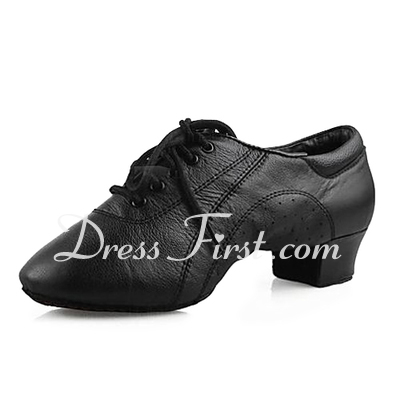 Men's Kids' Real Leather Flats Latin Ballroom Dance Shoes (053013126)