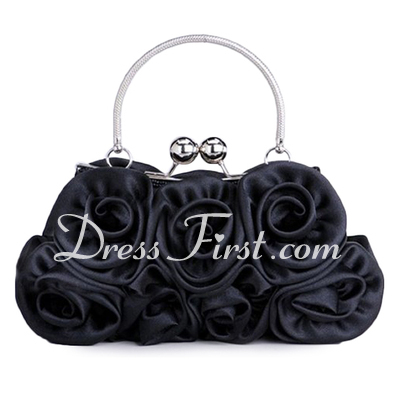 Elegant Silk With Flower Wristlets (012005403)