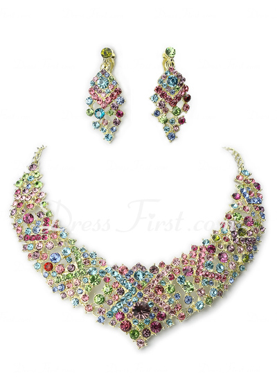 Luxurious Alloy With Rhinestone Jewelry Sets (011017251)