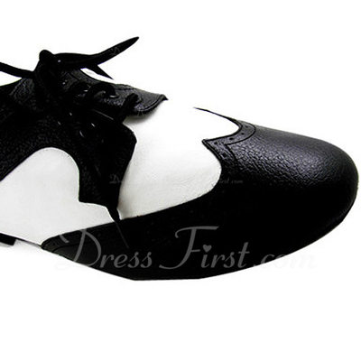 Men's Kids' Real Leather Flats Modern Ballroom Dance Shoes (053012954)