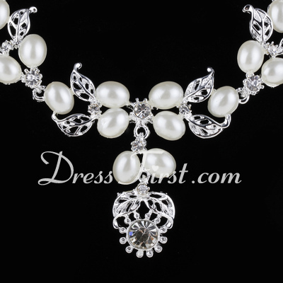 Elegant Alloy/Pearl With Rhinestone Ladies' Jewelry Sets (011027172)