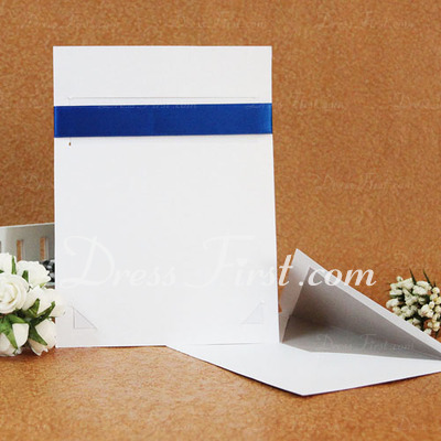 Classic Style Flat Card Invitation Cards With Ribbons (Set of 50) (114030776)