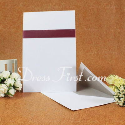 Classic Style Flat Card Invitation Cards With Ribbons (Set of 50) (114030730)