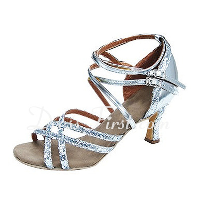 Women's Leatherette Heels Sandals Latin Dance Shoes (053013041)
