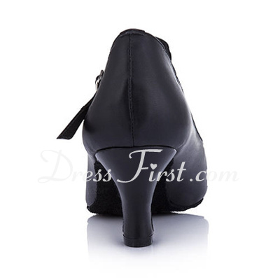 Women's Real Leather Heels Pumps Modern Dance Shoes (053013009)