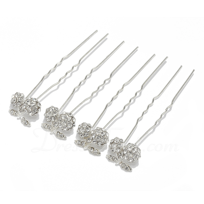 Beautiful Rhinestone Hairpins (Set of 4) (042017020)