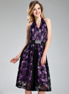 Linia A/Księżniczka Kantar Do Kolan Charmeuse Lace Suknia dla Druhny Z Perełki Cekiny