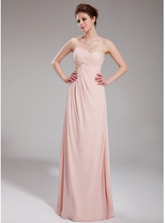 Empire Sweetheart Floor-Length Chiffon Prom Dress With Ruffle Beading Sequins (018005001)